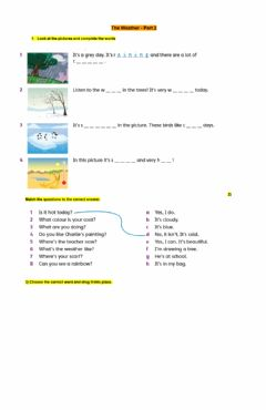 Interactive worksheet The Hottest and Coldest Places