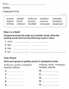 Interactive worksheet Spelling - Compound Words