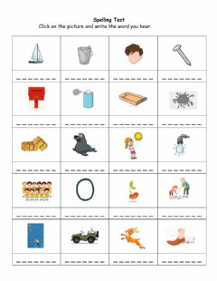 Interactive worksheet Spelling Test - May 11-15 B
