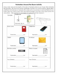 Interactive worksheet Perimeters Around the Room