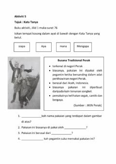 Interactive worksheet Kata Tanya