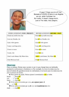 Interactive worksheet Past regular verbs 5è