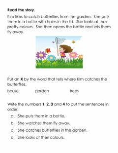Interactive worksheet Sequencing