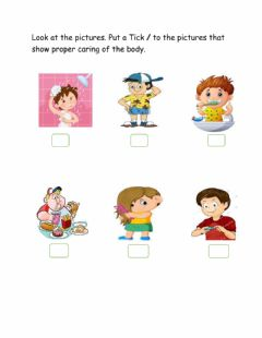 Interactive worksheet Caring for The Body