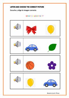 Interactive worksheet What colour is it?