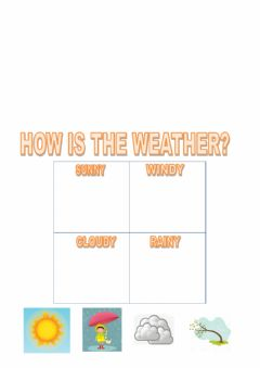 Interactive worksheet How is the weather?