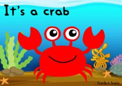 Interactive worksheet It's a crab