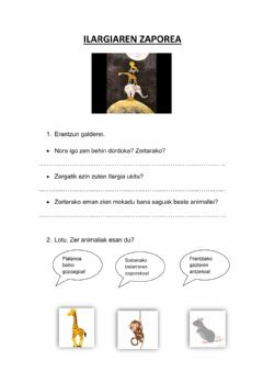 Interactive worksheet Ilargiaren zaporea
