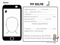 Interactive worksheet My selfie