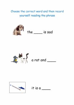 Interactive worksheet Look at picture and choose correct word
