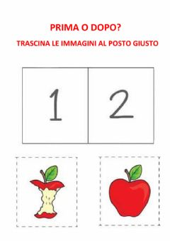 Interactive worksheet Prima o dopo
