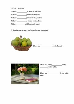 Interactive worksheet Threre is - There are