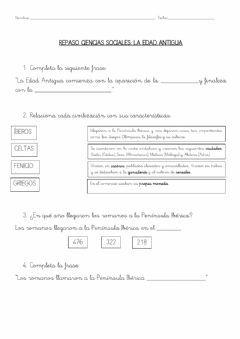 Interactive worksheet Repaso Edad Antigua