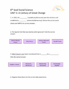 Interactive worksheet 6th level Social Science Unit 5