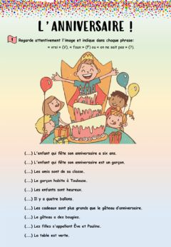 Interactive worksheet L'anniversaire