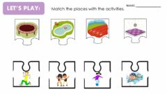 Interactive worksheet Match the place with the activities