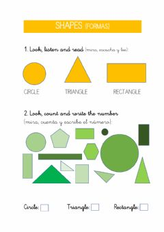 Interactive worksheet Shapes