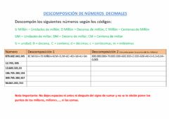 Interactive worksheet Descomposición de números decimales