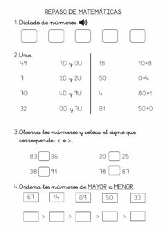 Interactive worksheet Repaso de Mate 1º
