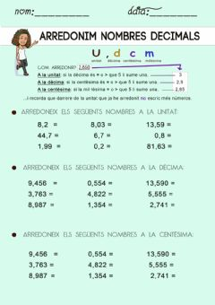 Interactive worksheet Arredonir nombres decimals