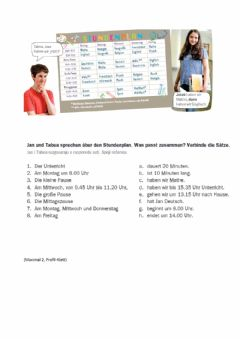 Interactive worksheet Jans Stundenplan