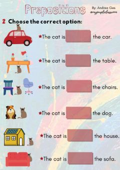 Interactive worksheet Prepositions 2