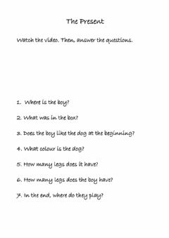 Interactive worksheet The present