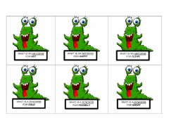 Interactive worksheet Monster synonyms vs antonyms Madness