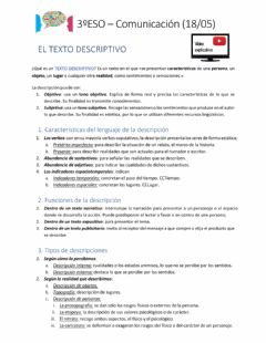 Ficha interactiva El texto descriptivo