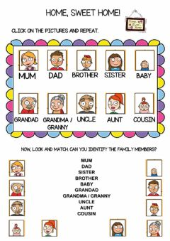 Interactive worksheet Family Members 4