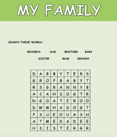 Interactive worksheet My family - 2