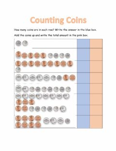Interactive worksheet MA1-Thursday (Counting coins)