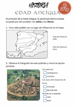 Interactive worksheet Celtas, Íberos y pueblos colonizadores