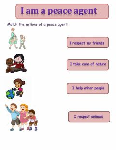 Interactive worksheet I am a peace agent
