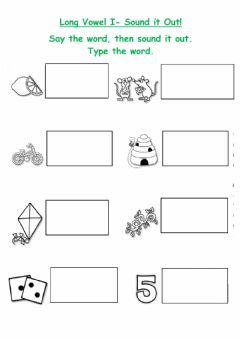 Interactive worksheet Long I words