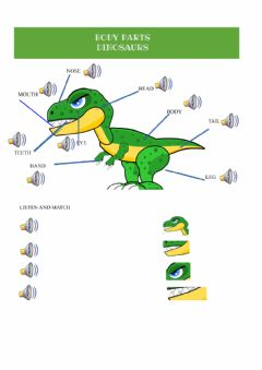 Interactive worksheet Body dinosaur