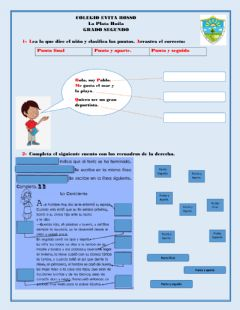 Interactive worksheet El punto