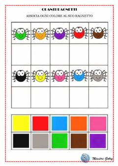 Interactive worksheet Quanti ragnetti