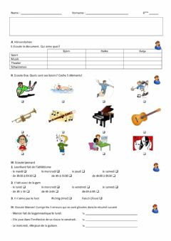 Ficha interactiva Hobbies (Evaluation)