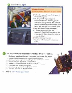 Interactive worksheet The future of space travel