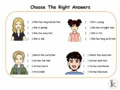 Interactive worksheet My Friends - choose the right one
