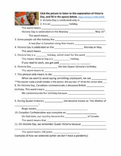 Interactive worksheet Victoria Day Holiday