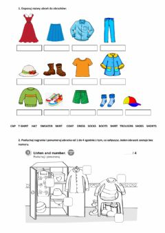 Interactive worksheet New English Adventure 1 unit 7 - clothes