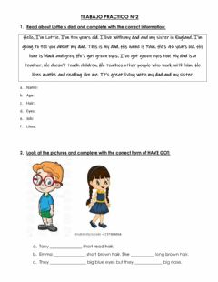 Interactive worksheet Trabajo Practico My Life 1- Unit 2