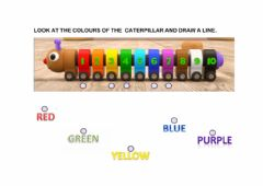 Interactive worksheet Colours and numbers caterpillar