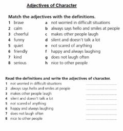 Interactive worksheet Adjectives of Character