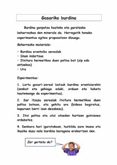 Interactive worksheet Gosariko burdina