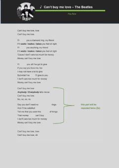 Interactive worksheet Present Simple with The Beatles