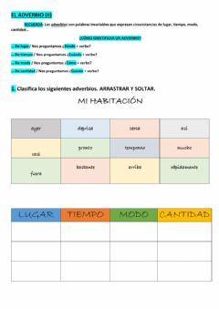 Interactive worksheet El adverbio (ii)