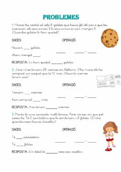 Interactive worksheet Problemes 3